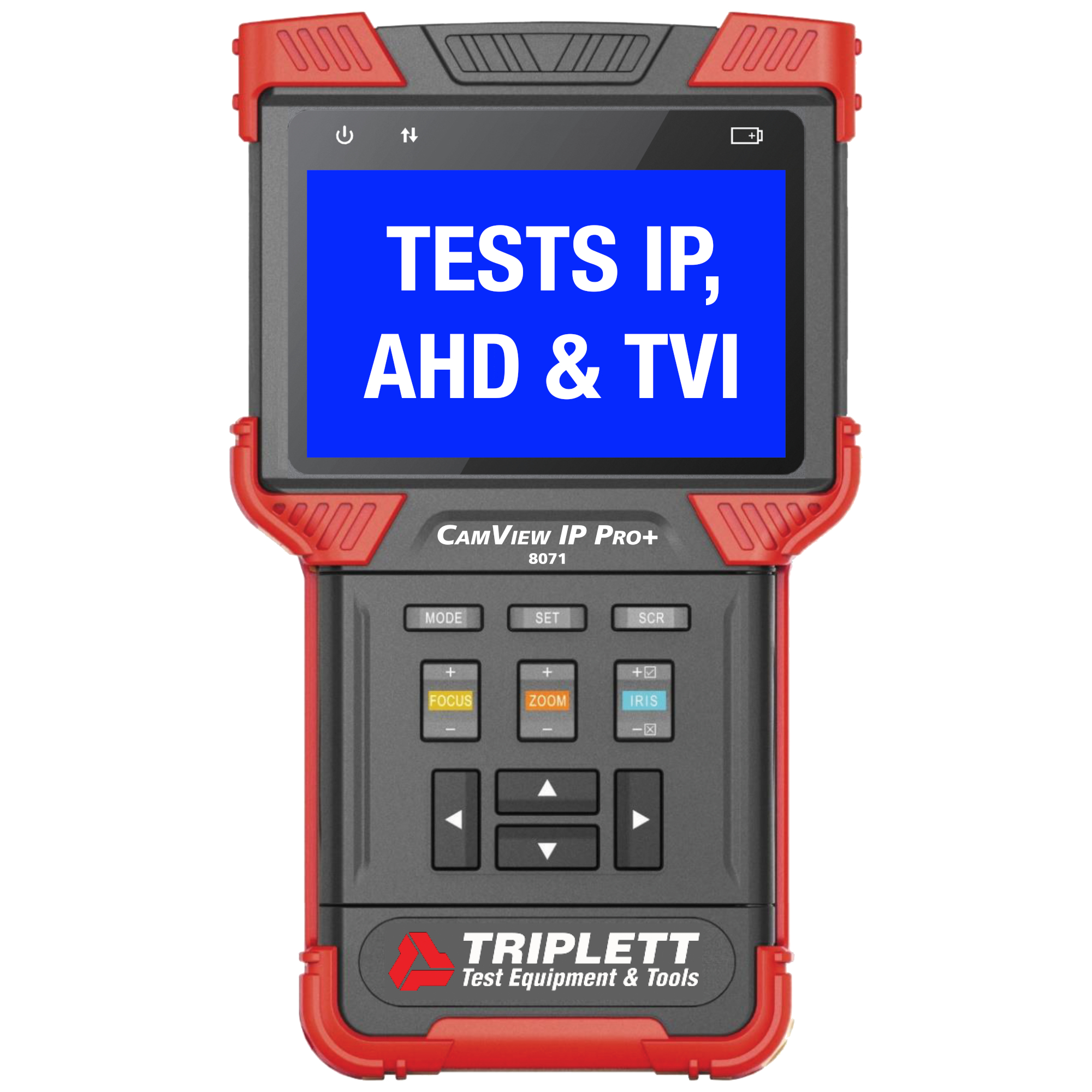 Triplett 8071 CamView IP Pro Plus Camera Tester for Standard Analog NTSC/PAL and HD Analog Systems
