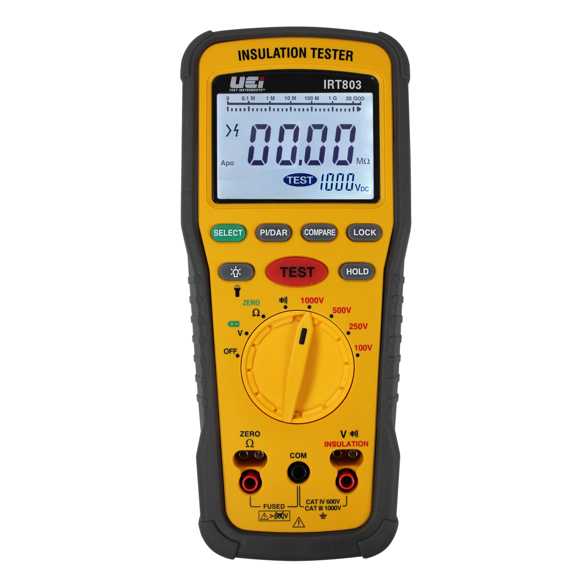 UEi IRT803 Digital Insulation Resistance Tester with 1000V Stress Test