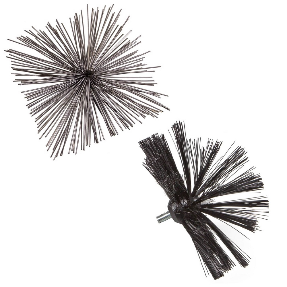 Wohler Square and Domed Perlon Threaded Chimney Cleaning Brushes 8 - 13