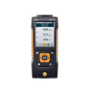 Testo 440 dP Air Flow Velocity IAQ Instrument with Differential Pressure 0560 4402
