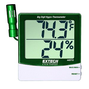 Extech 445715 Big Digit Display Hygro Thermometer with Remote Probe