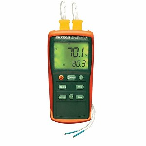 Extech EA10 Dual Input Type K Thermometer with EasyView