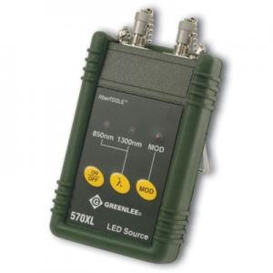 Greenlee 570XL-ST Fiber Optic  Multimode Light Source 850 and 1300 nm