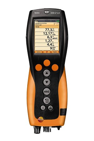 Testo 330-2G LL Kit 1 Commercial Combustion Analyzer with Color Screen and Bluetooth